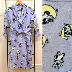 Long Fleece Robe with Cows Print (kids)